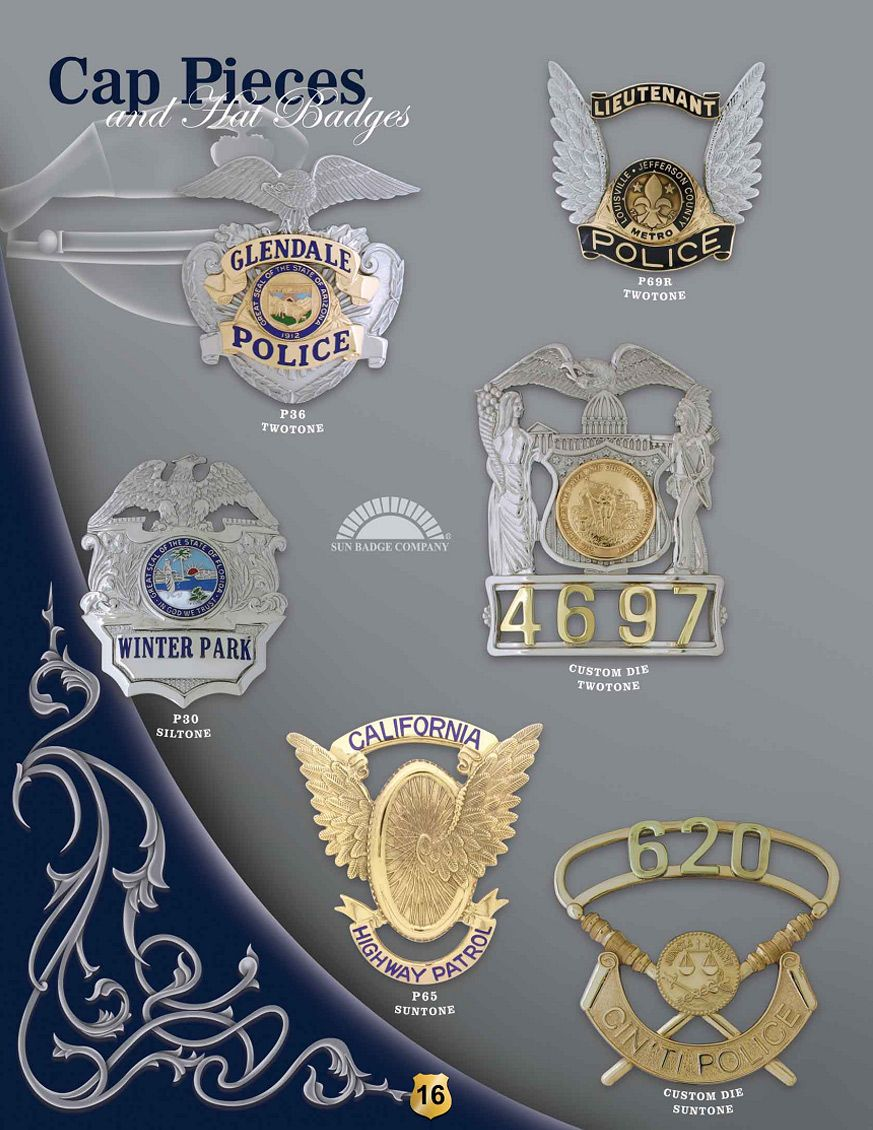 Cap Pieces & Hat Badges