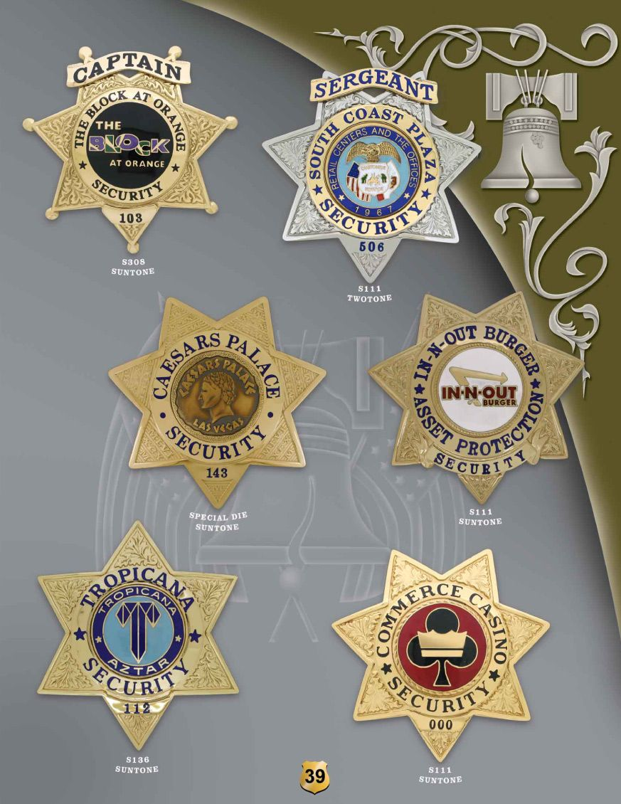 Catalog Sun Badge Company