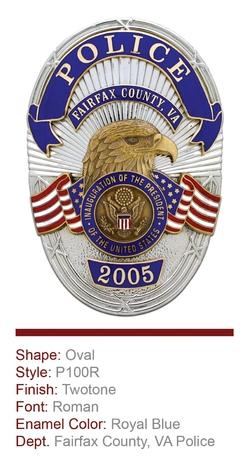 Fairfax County VA Anniversary Badge